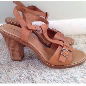 Madewell slingback leather heel sands mule JCrew